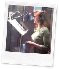 Alecia in the recording studio